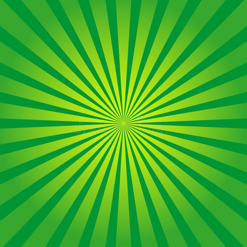 Free Green Background With Yellow Rays. Sun Burst And Starburst. Retro Texture With Light Sunburst. Abstract Pattern With Sunlight. Art Stock Photos - 182429893