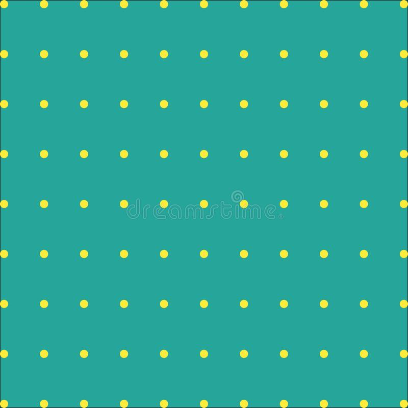 Green background with a yellow spots on vector royalty free illustration