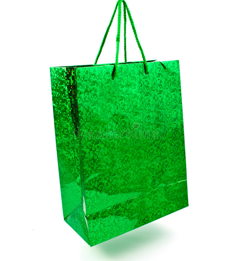 Download Green bag stock image. Image of selling, reusable, isolated - 18212599