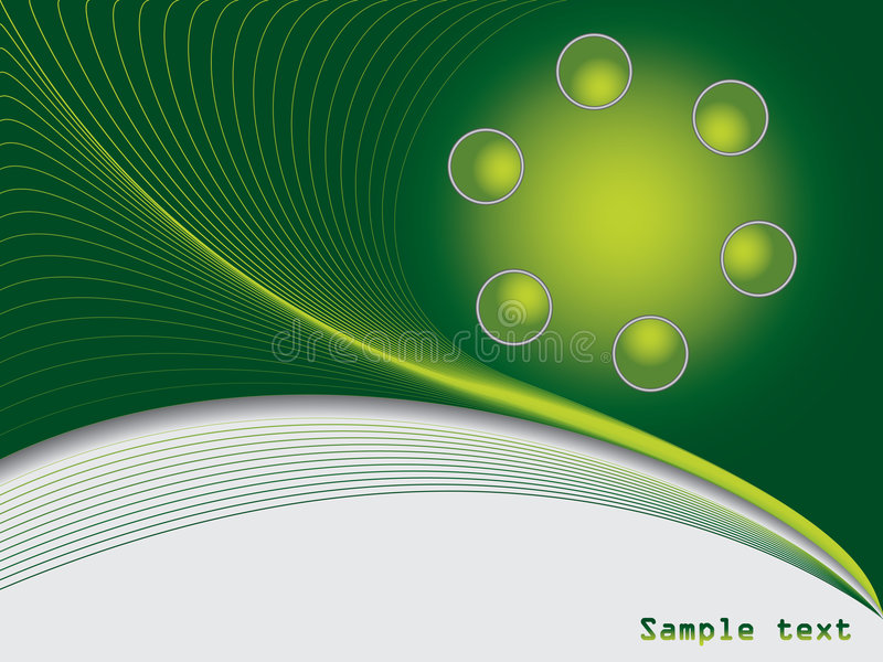 Download Green ball background stock vector. Image of brochure - 8974696