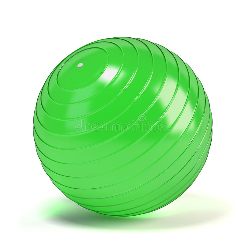 Free Green Ball For Fitness Stock Image - 54894351