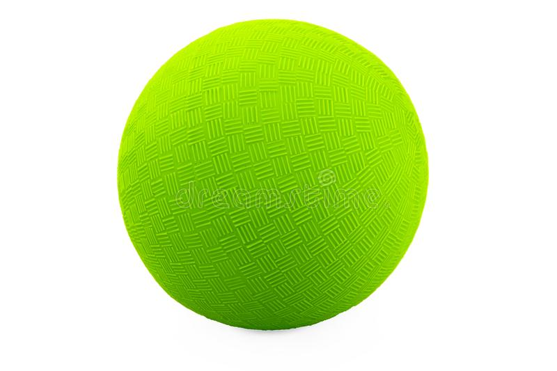 Green ball on white background. Outline paths for easy outlining. Great for templates, icon background, interface buttons.  royalty free stock image