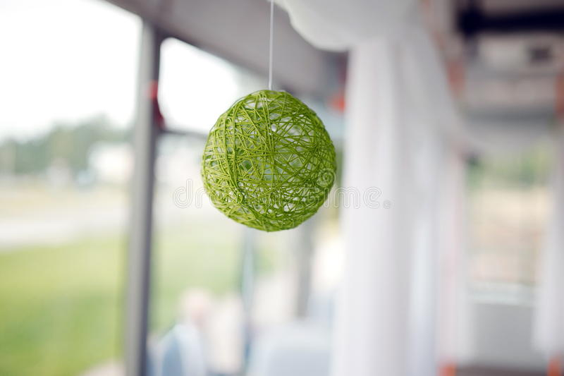 A green ball of yarn stock image