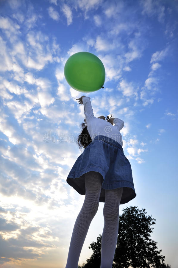 Green Balloon Stock Images
