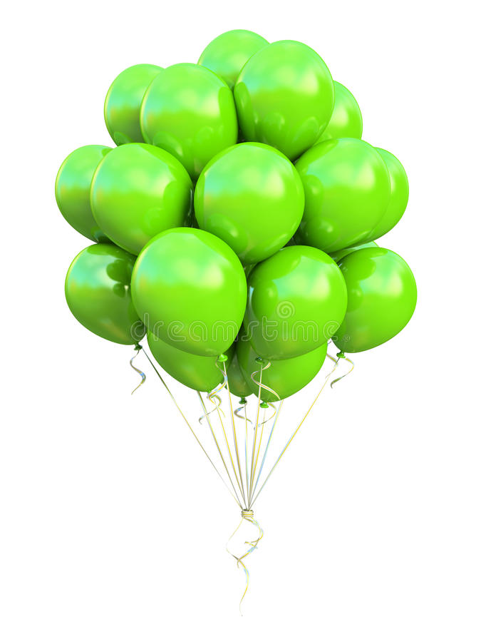 Download Green balloons stock illustration. Image of oxygen, color - 30681970