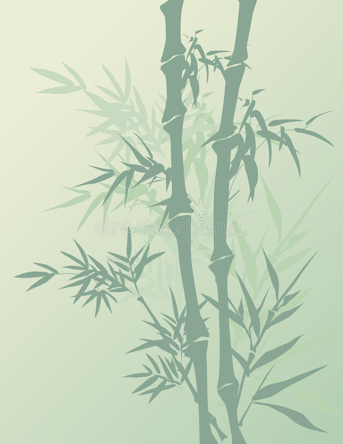 Green Bamboo Background vector illustration