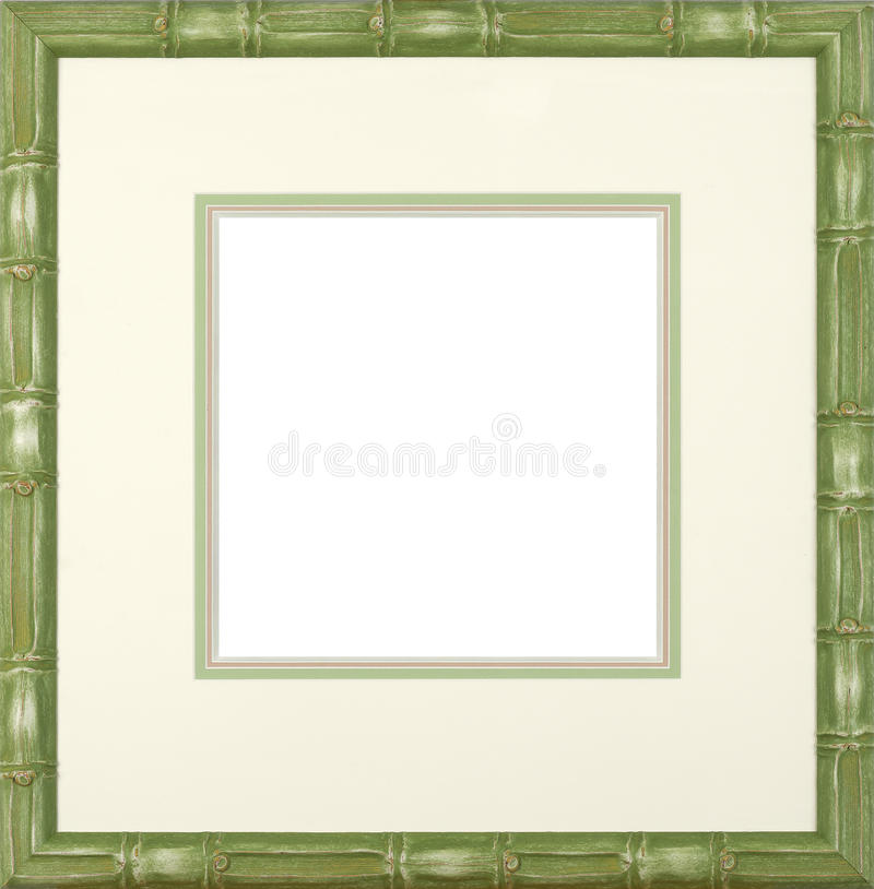 Download Green bamboo frame stock image. Image of green, home - 21891839