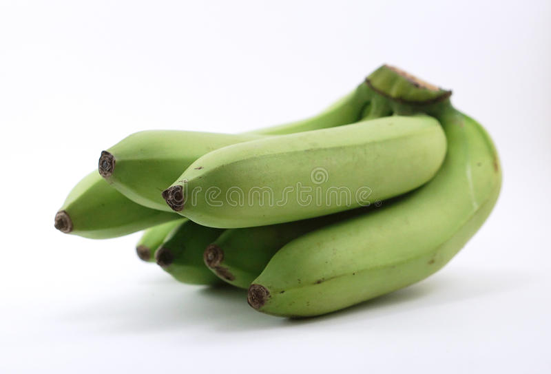 Green bananas stock photo