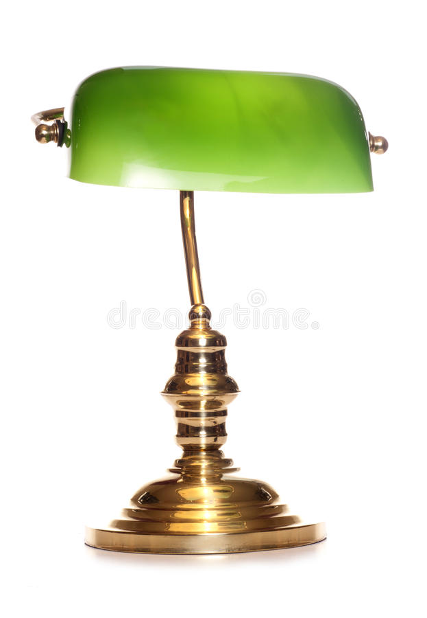 Green bankers lamp royalty free stock photography