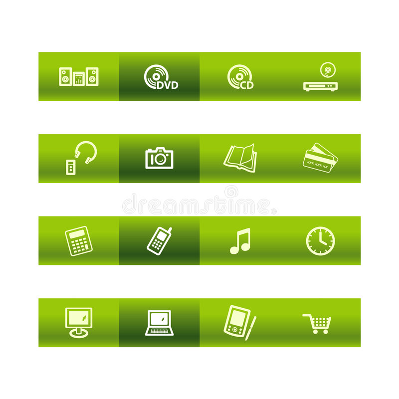 Download Green Bar Home Electronics Ico Royalty Free Stock Image - Image: 3651756