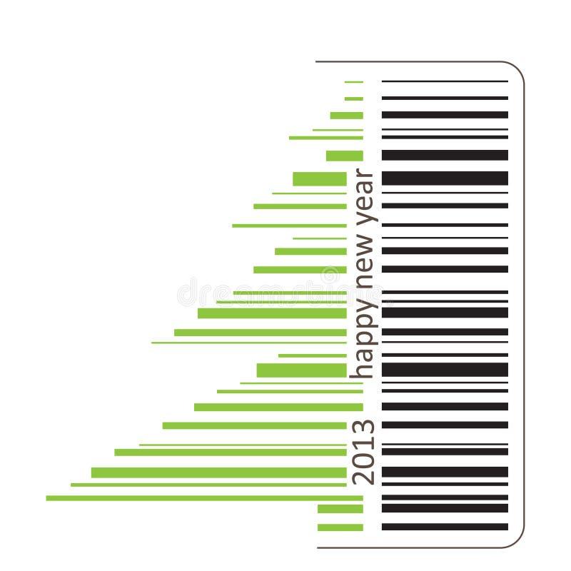 Green Barcode Stock Photo