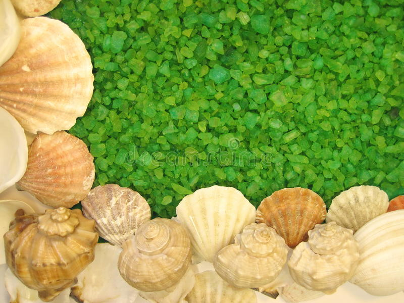 Green bath salt stock images