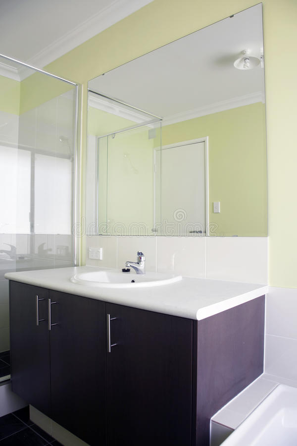 Download Green bathroom stock photo. Image of glass, architecture - 19821802