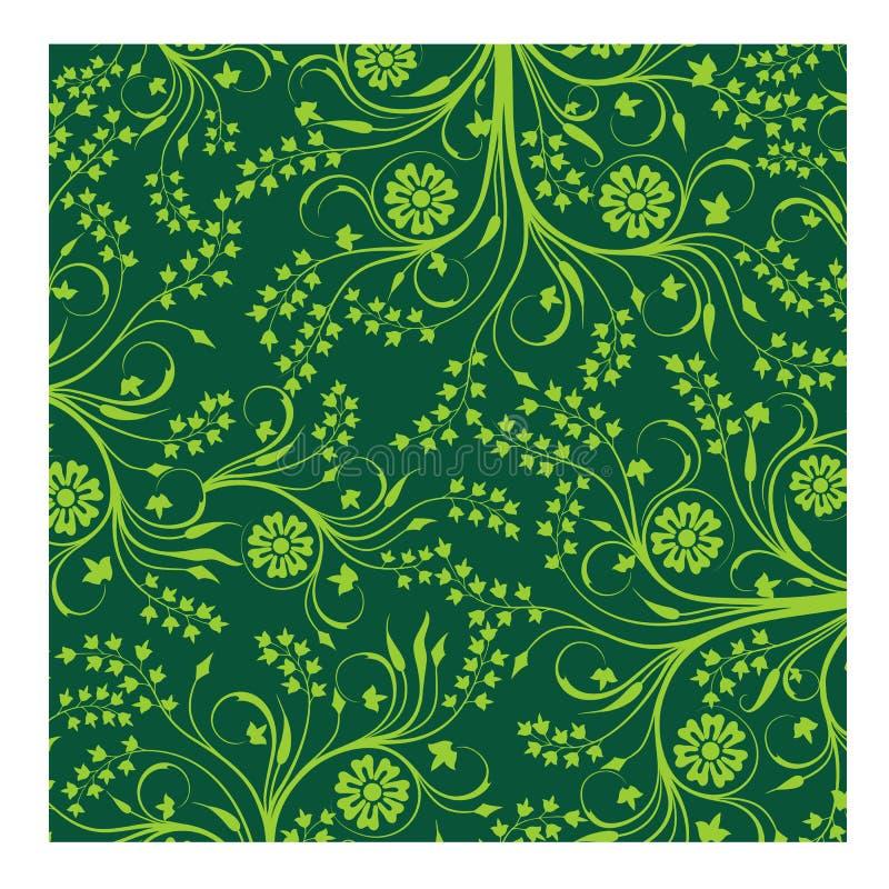 Green Batik seamless vector background for fashion textile print. stock photos