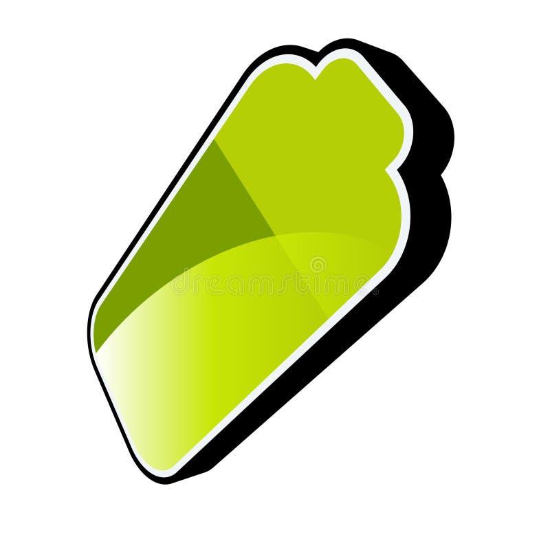 Green battery royalty free illustration
