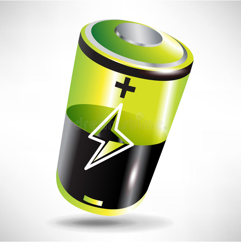 Download Green battery icon stock vector. Image of shape, conservation - 22505383
