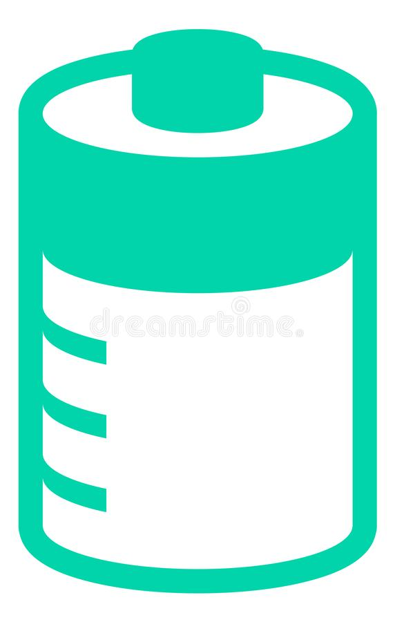green battery vector with charge levels stock photos