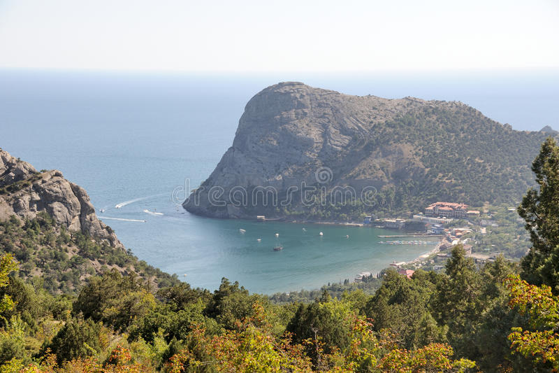 Green Bay and Eagle Mountain - Novy Svet royalty free stock photo