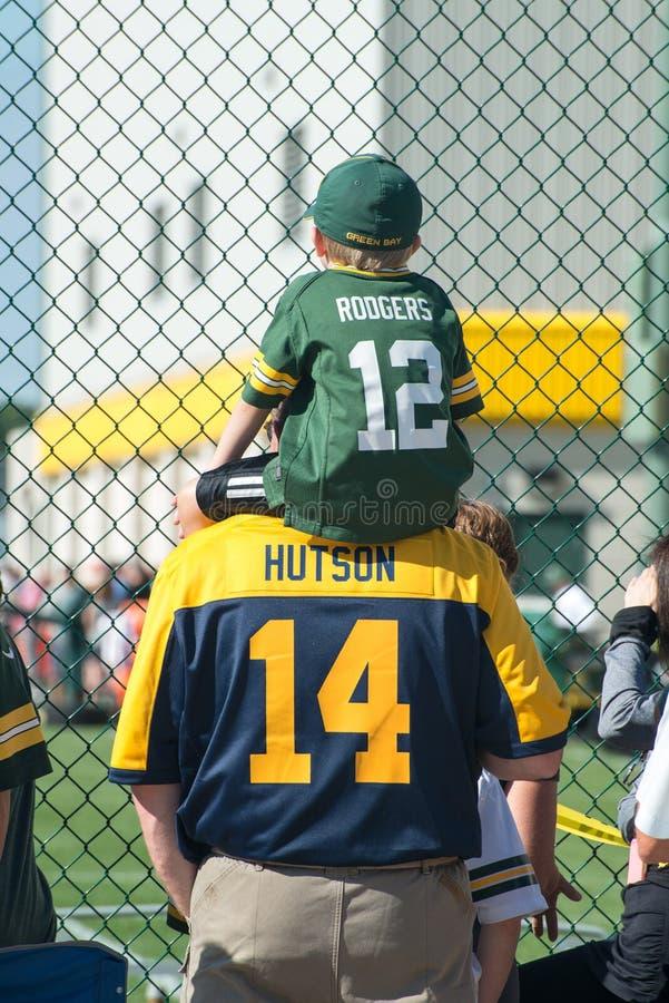 Green Bay Packers, fãs do empacotador imagem de stock royalty free