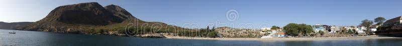 Green Bay, Tarrafal, island of Santiago, Cape Verde. Panorama assembled from 10 horizontal photos royalty free stock photos