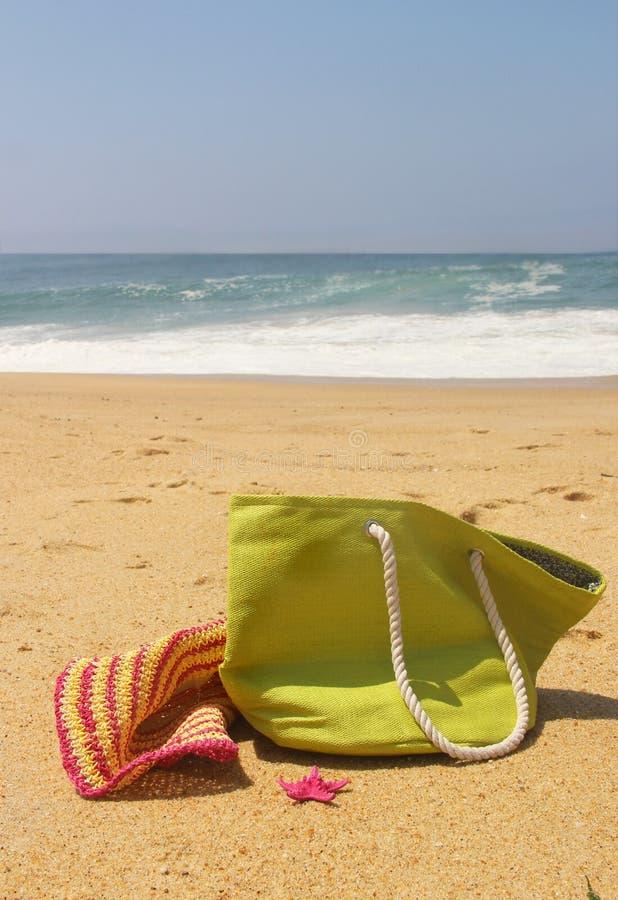 Green Beach Bag Stock Photography