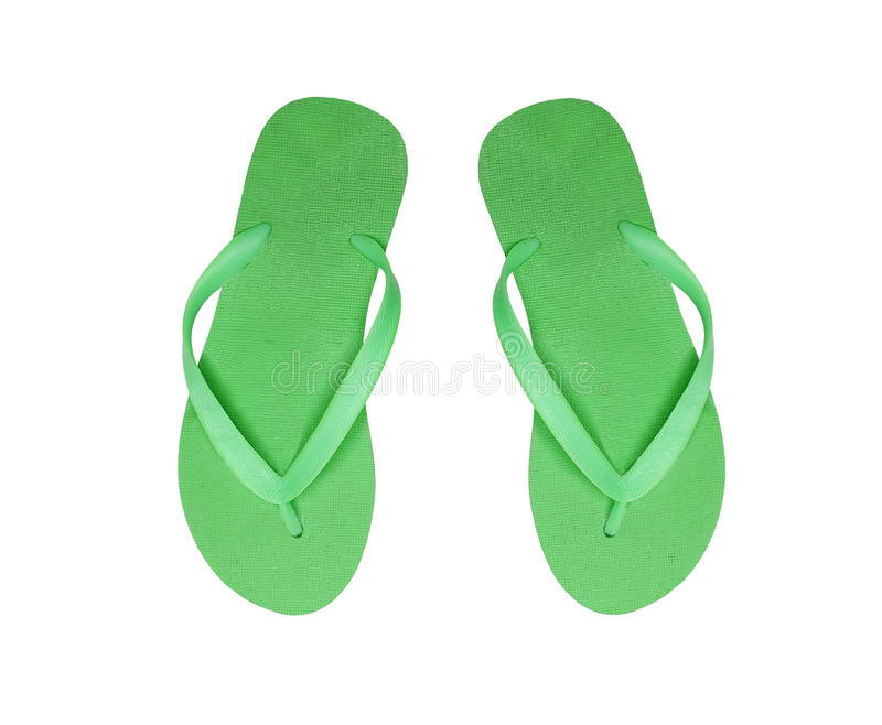 Download Green Beach Shoes Isolated On White Stock Photo - Image: 38311196