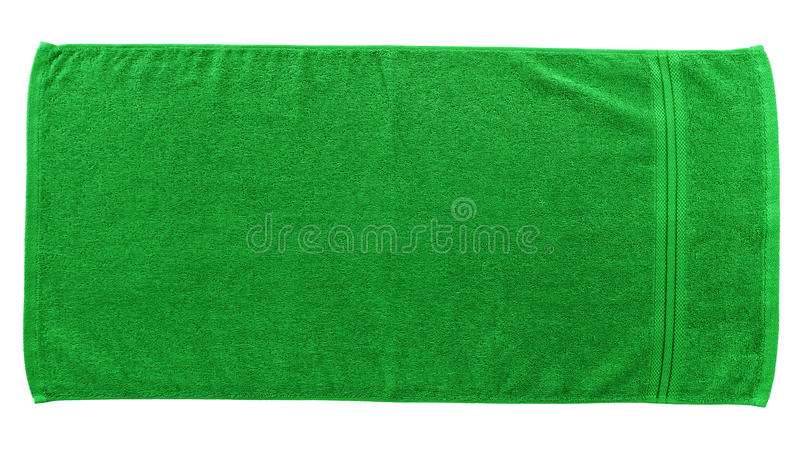 Green beach towel stock images