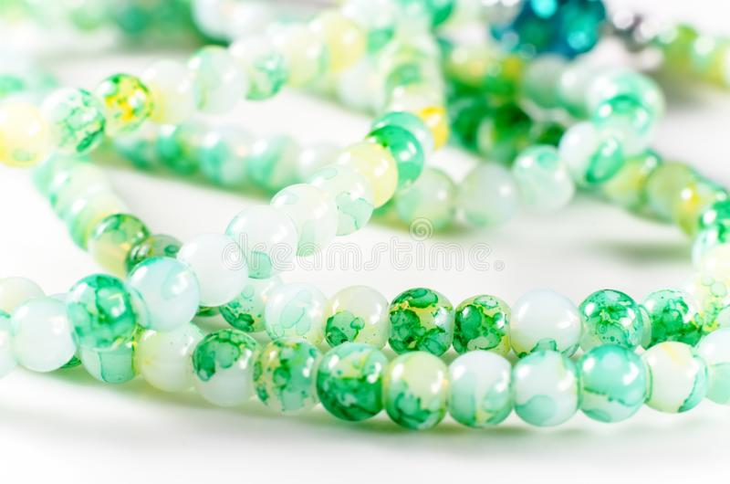 Green beads stock photography