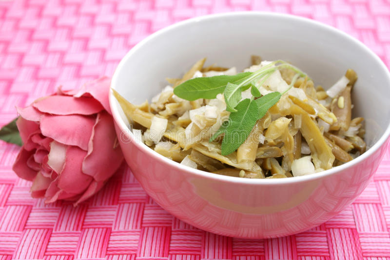 Green bean salad. In a bowl stock image
