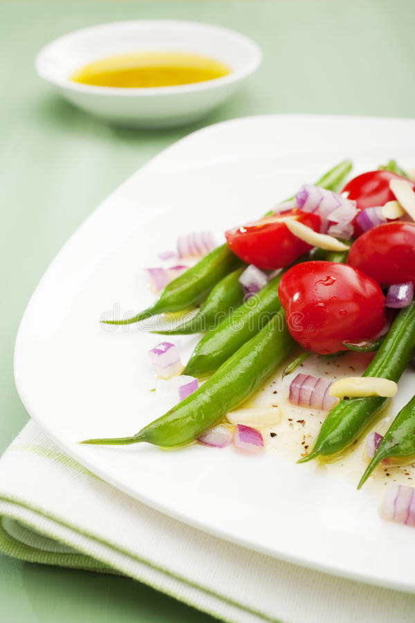 Download Green Bean And Tomato Salad Stock Image - Image of plated, tomatoes: 25835361