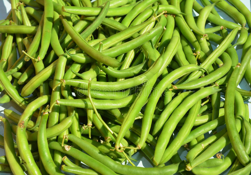 Green beans casserole, also known as string beans, or snap beans background. Vegan Food. stock images