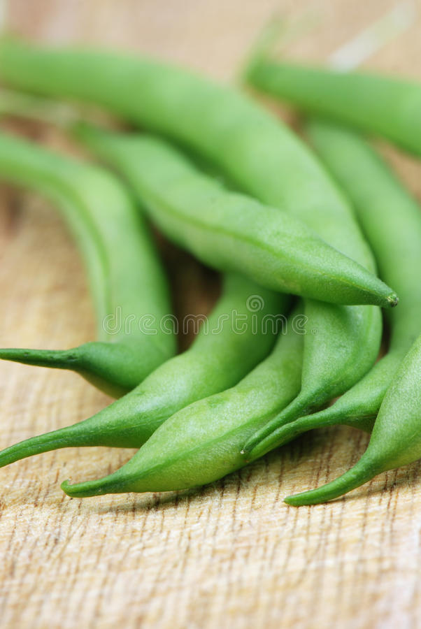 Green beans close up royalty free stock image