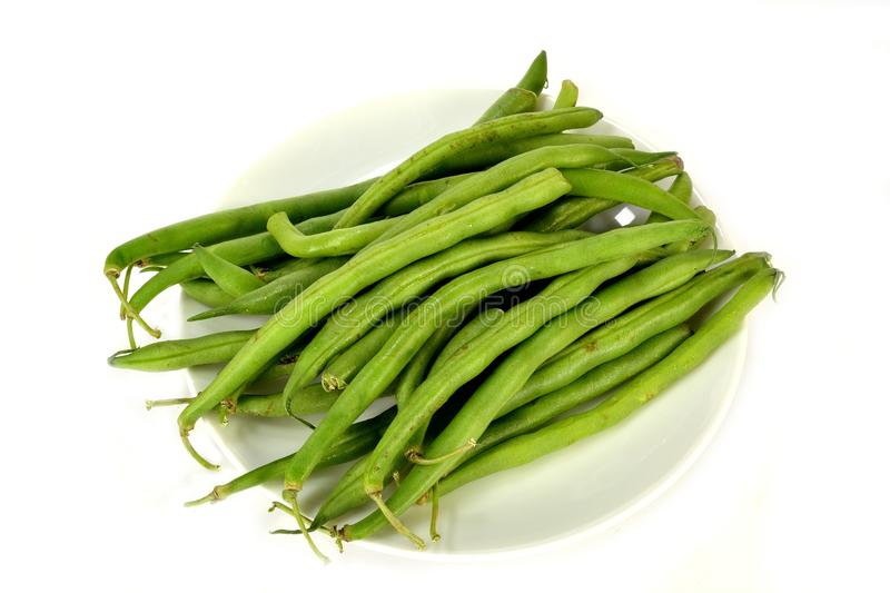 Green beans. Group of green beans on a white background royalty free stock photos