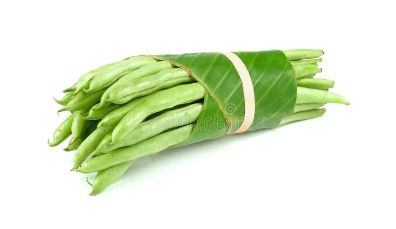 Green beans isolated on white background royalty free stock image