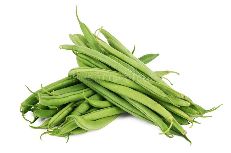 Green beans isolated on white background stock photos
