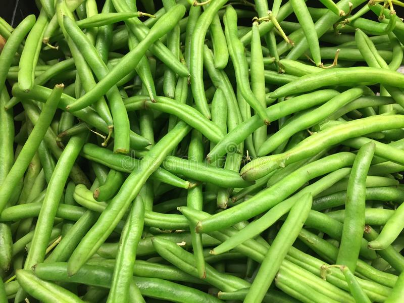 Green Beans at Market stock photos