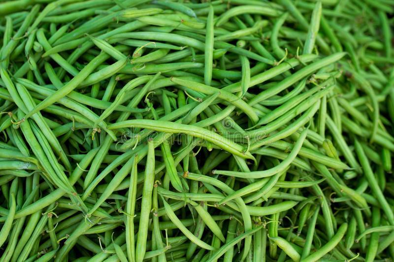 Green beans in Market vegetables food textures