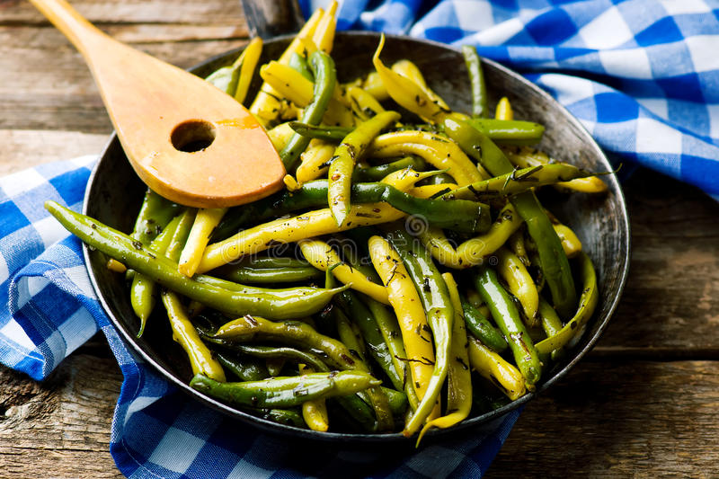 Green Beans with Tarragon royalty free stock image