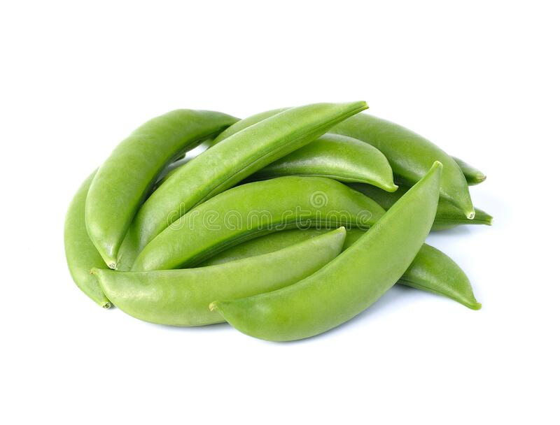 Green beans. On white background royalty free stock photos