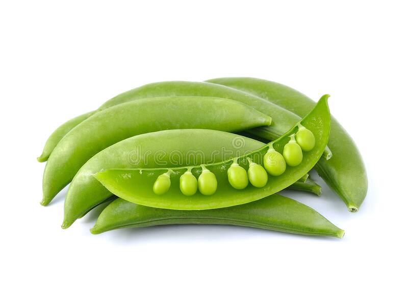 Green beans. On white background stock image
