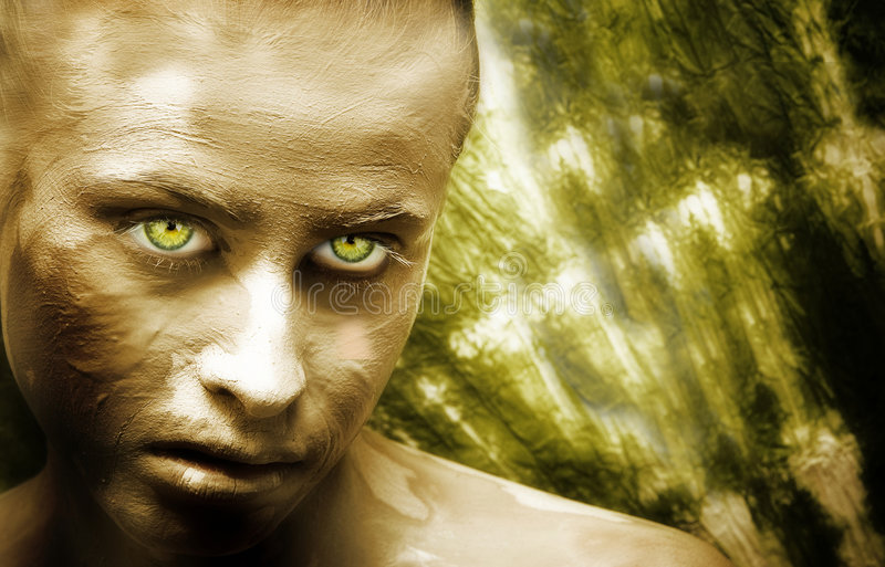 Download Green beauty stock image. Image of fear, green, skincare - 1173805