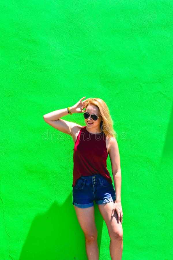 Green, Beauty, Girl, Fun stock photos