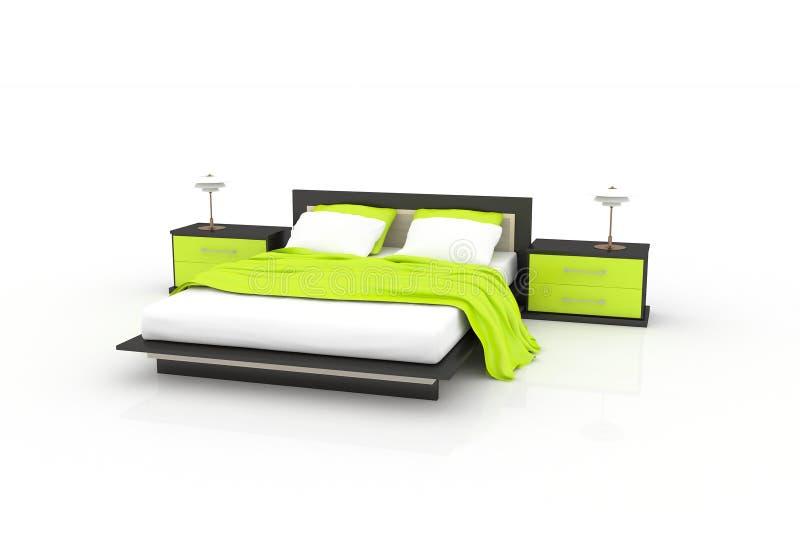 Green bedroom royalty free illustration