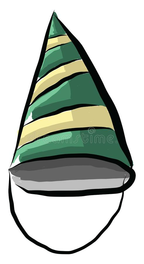 The double-colored birthday hat vector or color illustration royalty free illustration