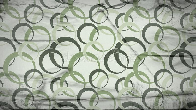Green and Beige Grunge Seamless Geometric Circle Wallpaper Background Design 库存例证