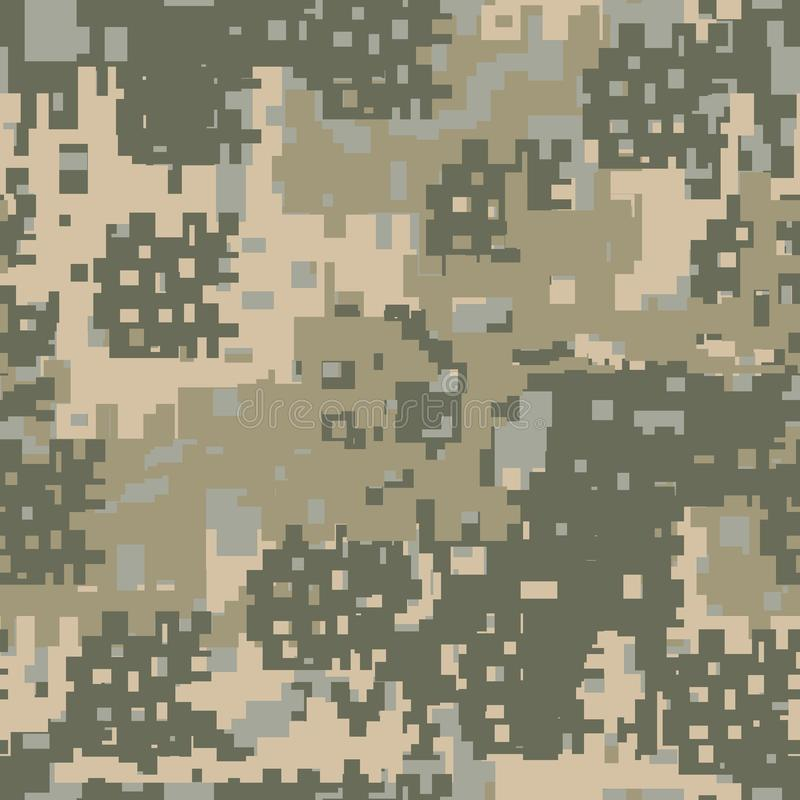 Green Beige And Khaki Digital Camouflage Is A Colorful Seamless Pixel Pattern That Can Be Used As Camo Print For Clothing Background Backdrop Or