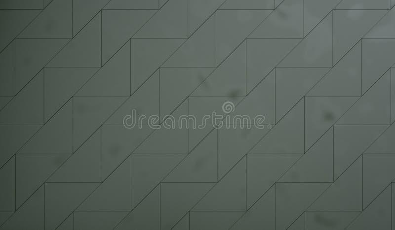 green belagd med tegel vägg stock illustrationer