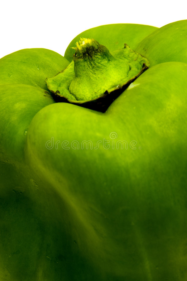 Green Bell Pepper royalty free stock image