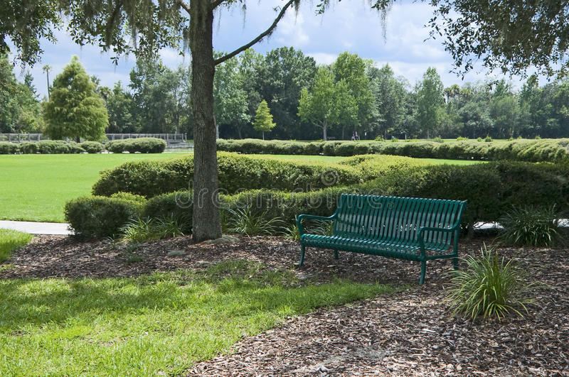 Download Green Bench stock photo. Image of resting, green, seating - 20802790