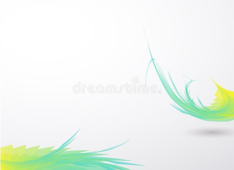 Green bending line on white clean color backround. Green bending line on white clean water color backround vector illustration